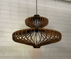 wood Pendant Light lasercut Chandelier lamp Handmade plywood hanging ceiling cup ecological minimal modern design industrial More