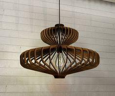 houten hanger licht lasercut kroonluchter lamp handgemaakt multiplex opknoping plafond cup ecologische minimaal modern ontwerp industriële