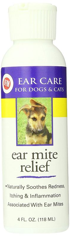 Miracle Care Ear Mite Relief Resealable Bottle, 4-Ounce -- If you love this, read review now : Dog supplies for health