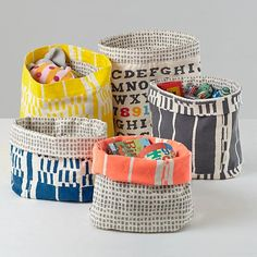 reversible storage bins.