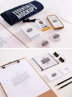 Essentials Mockups Free Set | GraphicBurger