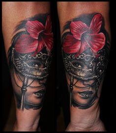 Venetian+Mask+Tattoo | Gáboa: Venetian Mask | Tattoos von Tattoo-Bewertung.de