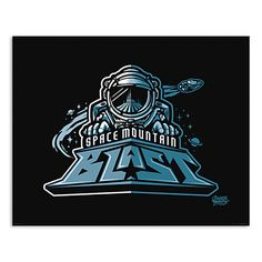 March Magic Poster - Space Mountain Blast - Walt Disney World - Limited Release