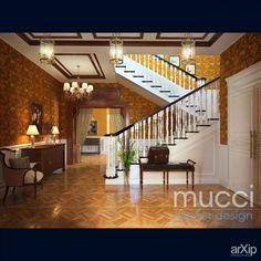 Холл в английском стиле: интерьер, прихожая, холл, вестибюль, фойе, квартира, дом, английский, 30 - 50 м2, лестница #interiordesign #entrancehall #lounge #lobby #lobby #apartment #house #english #british #anglican #royal #30_50m2 #stairs