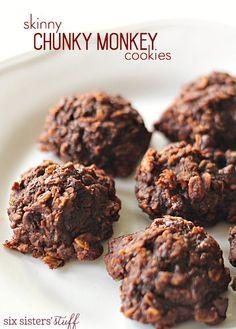 Skinny Chunky Monkey Cookies on SixSistersStuff.com