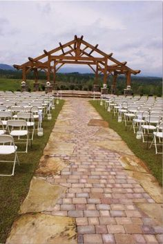 Another View Of The Unique Aisle In Action At Calyx Farms Walhalla SC Wedding FunWedding VenuesWedding