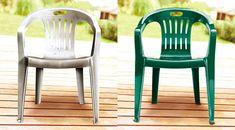 Pintando cadeiras plásticas