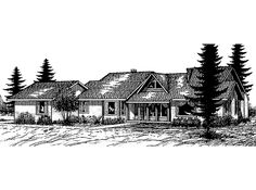 Ranch House Plan with 2650 Square Feet and 3 Bedrooms from Dream Home Source | House Plan Code DHSW68221