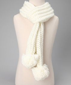 Look at this #zulilyfind! Ivory Iceland Scarf by Capelli New York #zulilyfinds