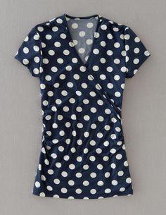 Boden - Short Sleeve Wrap Top