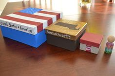 Global Address Nesting Boxes- perfect for demonstrating that the city is in the county, the county is in the state, the state is in the country, and the country is on the continent!