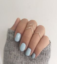 $13.21 : Silver Knuckle Ring Set of 3 - Chevrons,stacking ring set of 3,Above Knuckle chevron Rings,midi ring set of 3,v shaped rings,chevron rings