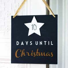 Festive Countdown Sign – Little Pieces