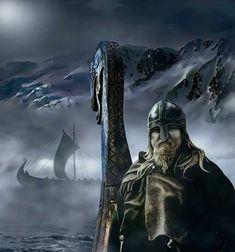 Vikings by casper art Viking Warrior, Viking Power, Viking Life, Viking Art, Viking Woman, Tatto Viking, Viking Tattoos, Ancient Vikings, Norse Vikings