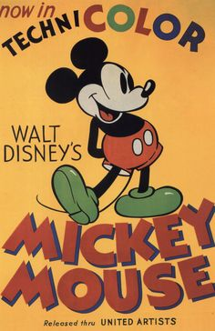 Poster for Mickey mouse. I think that orange has been used as the main colour for the background because Mickey Mouse is essentially a children's show! meaning that you will only want to create a positive attitude and not have anything harsh or unfriendly. Orange is associated with youthfulness, joy and energy, all things that would be associated with Mickey Mouse.