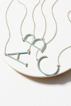 Pave Monogram Necklace