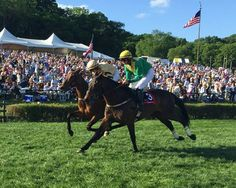 U.S.-trained Rawnaq held off two Irish invaders to win a thrilling edition of the $200,000 Calvin Houghland Iroquois Hurdle Stakes (NSA-I) May 14, 2016 at Percy Warner Park in Nashville, Tenn.