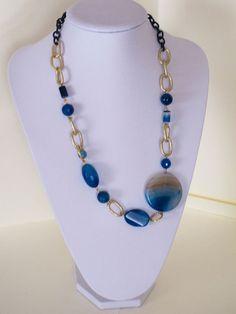 Risultati immagini per collane con pietre blu