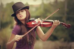 i was just like this. violin with long hair that was never tied back :)