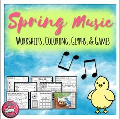 Fun Spring General Music Worksheets... Printable Games, Coloring and No Prep Printable Handouts!