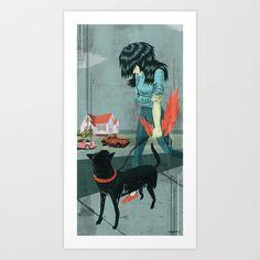 Anger House Art Print by charles glaubitz - $20.00