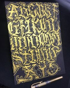 Graffiti Lettering Alphabet, Tattoo Fonts Alphabet, Alphabet Signs, Chicano Lettering, Graffiti Font, Graffiti Drawing, Tattoo Lettering Styles, Script Lettering, Calligraphy Fonts
