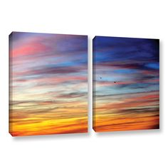 Spacious Skies by David Kyle 2 Piece Gallery-Wrapped Canvas Set