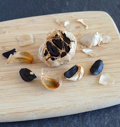 Appetite for China - Black Garlic. Scroll down for post. What Is Aging, New Food Trends, Black Garlic, Spices And Herbs, Food Shows, Preserves, New Recipes, Fancy, Body Scrubs