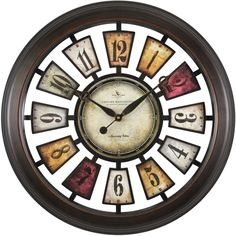 FirsTime 10023 Numeral Plaques Wall Clock