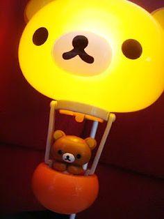 This rilakkuma lamp Kawaii Plush, Kawaii Cute, Cute Furniture, Large Balloons, Kawaii Room, Living Dolls, Rilakkuma, Cute Bears, Sanrio