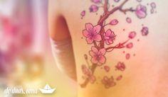 Tattoo: Flor de Cerejeira ~ De duas, uma | Design, Ilustrações e Tattoos