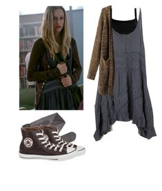"""Violet Harmon - ahs / american horror story"" by shadyannon ❤ liked on Polyvore featuring Gerbe, Valentino, Converse and Free People"