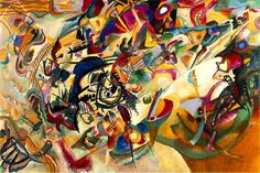Composition VII, Oil by Wassily Kandinsky (1866-1944, Russia)