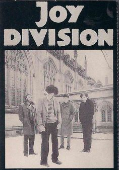 "Joy Division. An ironic name for the band. ""Love Will Tear Us Apart"". The band evolved into New Order after Ian Curtis committed suicide."