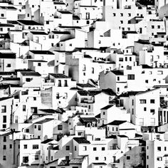 White Village in Spain Part II by Theresa F. Shadow Architecture, Vernacular Architecture, Poster Photography, City Photography, Paradise Places, Cityscape Art, Spanish Artists, Art Nouveau, Street Art