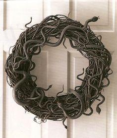 Creepy but cool- snake wreath.