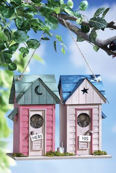 His & Her Outhouses Decorative Birdhouse from Collections Etc.