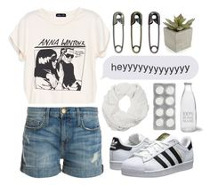 """""""im no angel i'm just me, but i will love you endlessly"""" by nicnery ❤ liked on Polyvore featuring Current/Elliott, adidas Originals, 3.1 Phillip Lim, Garden Trading and Crate and Barrel"""