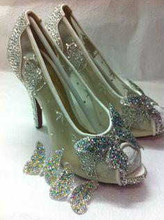 a11e9e1905b9 My Version of christian louboutins Cinderella slipper   wedding ivory shoes  silver white Photo 4