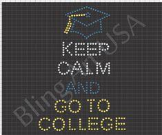 Rhinestone College Design Template Download