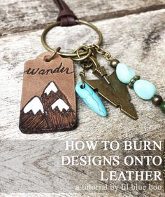 Burning Designs onto Leather - Leather Pyrography - How to burn designs into leather using a wood burning technique. Burnished leather tags.