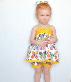 Girls Summer Outfit Toddler Butterfly Tank Top by GirlWithATwirl
