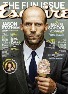 Mostrando su lado cómico (muy a su manera) Jason Statham protagoniza la edición de junio y julio de Esquire USA frente a la cámara de Nigel Parry, donde Jason viste elegantes y clásicos looks conformados por trajes y la básica camisa blanca.
