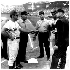 Pete Rose turns in the final lineup card at Crosley Field on June 24, 1970.