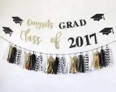 Graduation Banner Congrats Grad Banner Class of 2017 Graduation Desserts, Graduation Banner, Graduation Celebration, Graduation Decorations, Graduation Ideas, Congratulations Banner, Congratulations Graduate, 2017 Banner, 8th Grade Graduation