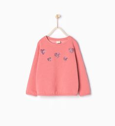 Shiny heart sweatshirt - Tops - Girl | 4 - 14 years - COLLECTION SS16 | ZARA United States