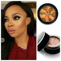 "#nigerianmakeupartist @anitabrows using the @imancosmetics @imanafrica ""Second to None Semi-Loose powder""  for this beautiful @tokemakinwa look. #teeka4"