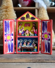 Christmas+Nativity++Retablo+Shadow+Box++Peruvian+by+MisterTrue,+$18.00