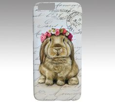 Bunny phone case rabbit case for iPhone and Samsung by MimoCadeaux
