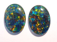 Pair of Australian Opal Triplets - available in our Opal Store :) .....